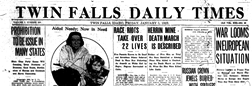 Twin Falls Daily Times newspaper archives