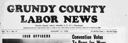 Alton Grundy County Labor News newspaper archives