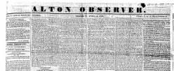 Alton Observer newspaper archives