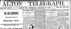 Alton Telegraph newspaper archives