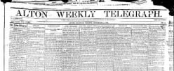 Alton Weekly Telegraph newspaper archives