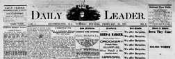 Bloomington Daily Leader newspaper archives