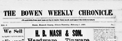 Bowen Weekly Chronicle newspaper archives