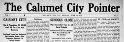 Calumet City Pointer newspaper archives