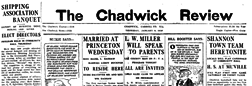 Chadwick Review newspaper archives