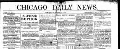Chicago Daily News newspaper archives