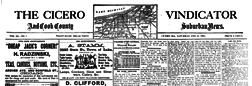 Cicero Vindicator newspaper archives