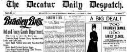 Decatur Daily Despatch newspaper archives