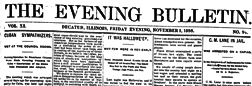 Decatur Evening Bulletin newspaper archives