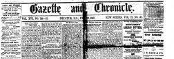 Gazette And Chronicle newspaper archives