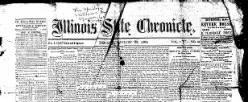 Illinois State Chronicle newspaper archives