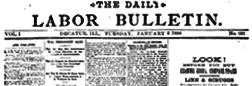 Labor Bulletin newspaper archives