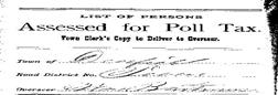 Deerfield Township Poll Book newspaper archives