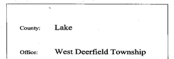 Deerfield Township Road Record newspaper archives