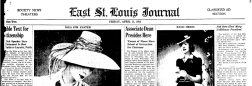 East St Louis Journal newspaper archives