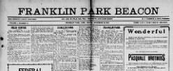 Franklin Park Beacon newspaper archives
