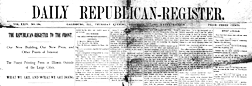 Daily Republican Register newspaper archives