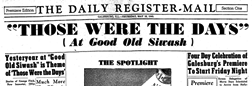 Galesburg Daily Register Mail newspaper archives