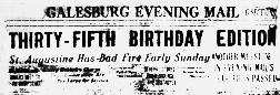 Galesburg Evening Mail newspaper archives