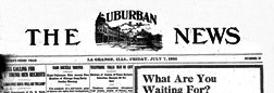 Suburban News newspaper archives