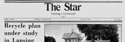 Lansing Star newspaper archives