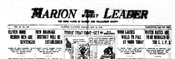 Marion Semi Weekly Leader newspaper archives