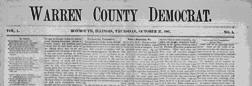 Monmouth Warren County Democrat newspaper archives