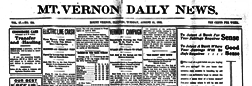 Mt Vernon Daily News newspaper archives