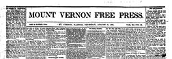 Mt Vernon Free Press newspaper archives