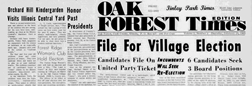 Oak Forest Times newspaper archives