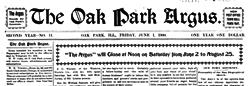 Oak Park Argus newspaper archives
