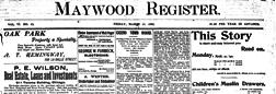 Oak Park Maywood Register newspaper archives
