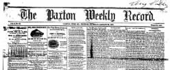 Paxton Weekly Record newspaper archives