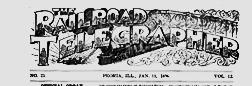 Peoria Railroad Telegrapher newspaper archives