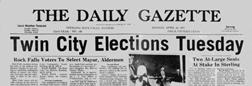 Daily Gazette Rock Falls Illinois newspaper archives
