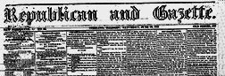 Republican And Gazette newspaper archives