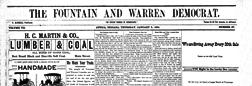 Attica Fountain And Warren Democrat newspaper archives