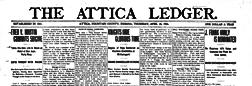Attica Ledger newspaper archives