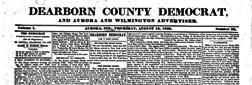 Aurora Dearborn County Democrat newspaper archives