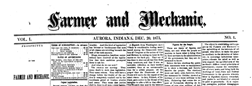 Aurora Farmer And Mechanic newspaper archives