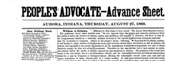 Aurora Peoples Advocate newspaper archives