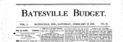 Batesville Budget newspaper archives