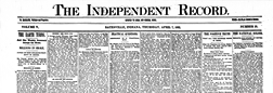 Batesville Independent Record newspaper archives