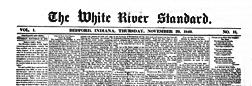 Bedford White River Standard newspaper archives