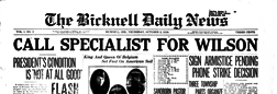 Bicknell Daily News newspaper archives
