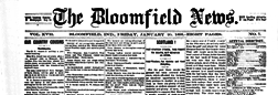 Bloomfield News newspaper archives