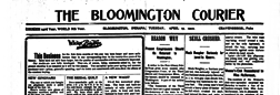 Bloomington Courier newspaper archives