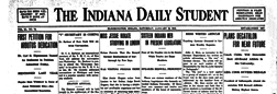 Bloomington Indiana Daily Student newspaper archives