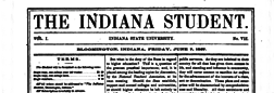 Bloomington Indiana Student newspaper archives