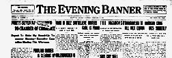Bluffton Evening Banner newspaper archives